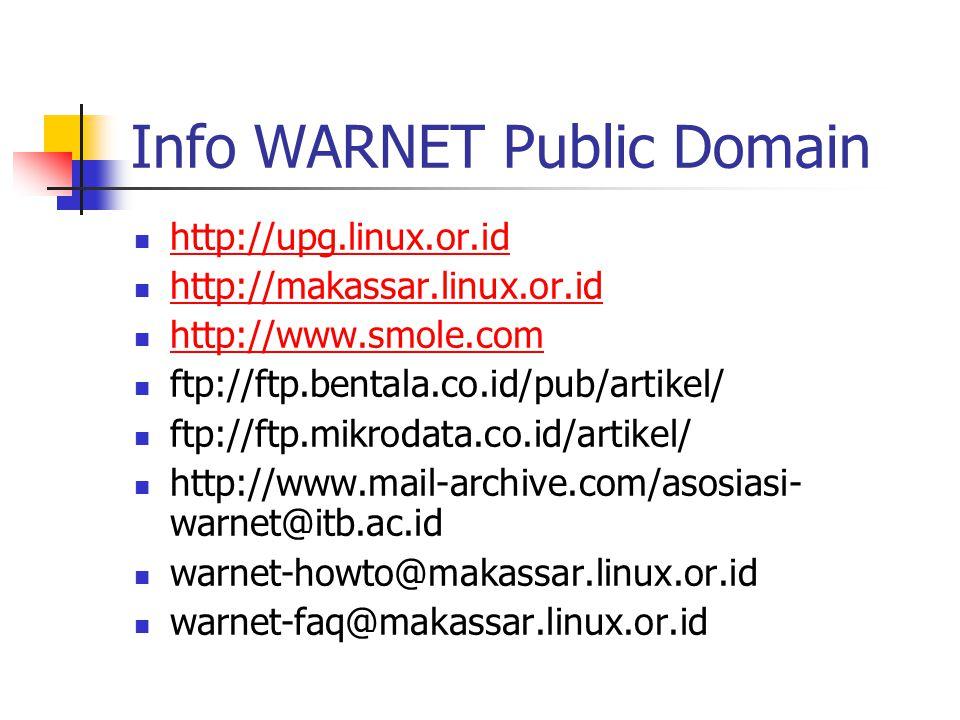 Info WARNET Public Domain