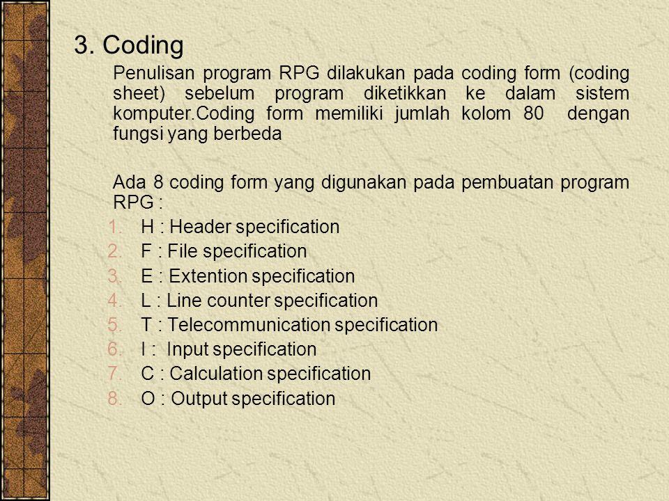 3. Coding