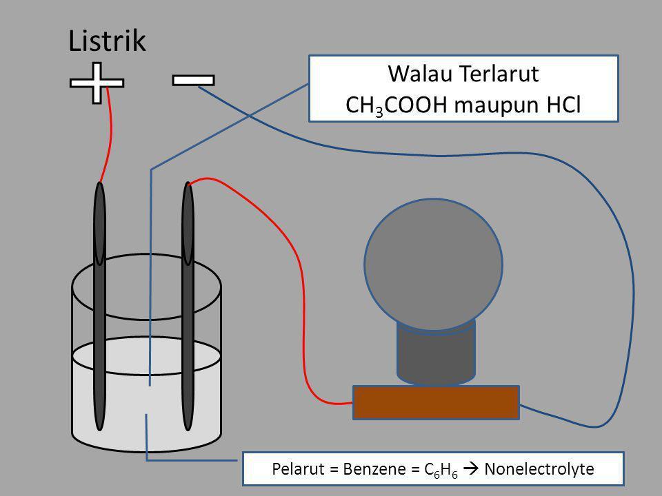 Pelarut = Benzene = C6H6  Nonelectrolyte