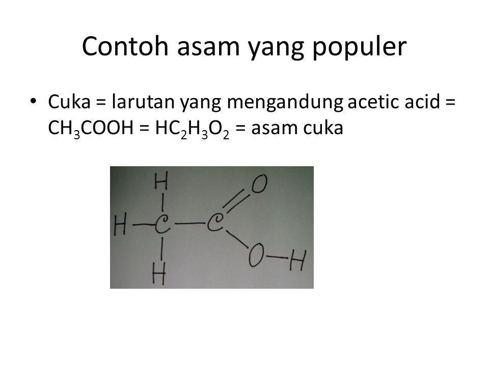 Contoh asam yang populer