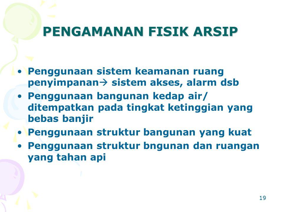 PENGAMANAN FISIK ARSIP