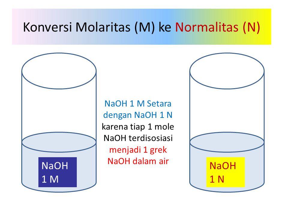 Konversi Molaritas (M) ke Normalitas (N)