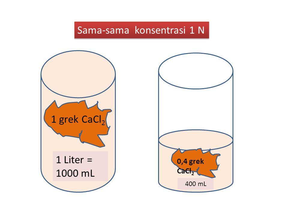 Sama-sama konsentrasi 1 N
