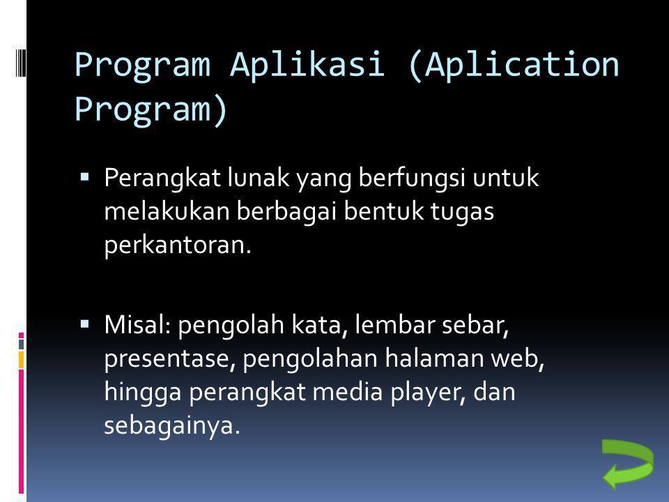 Program Aplikasi (Aplication Program)