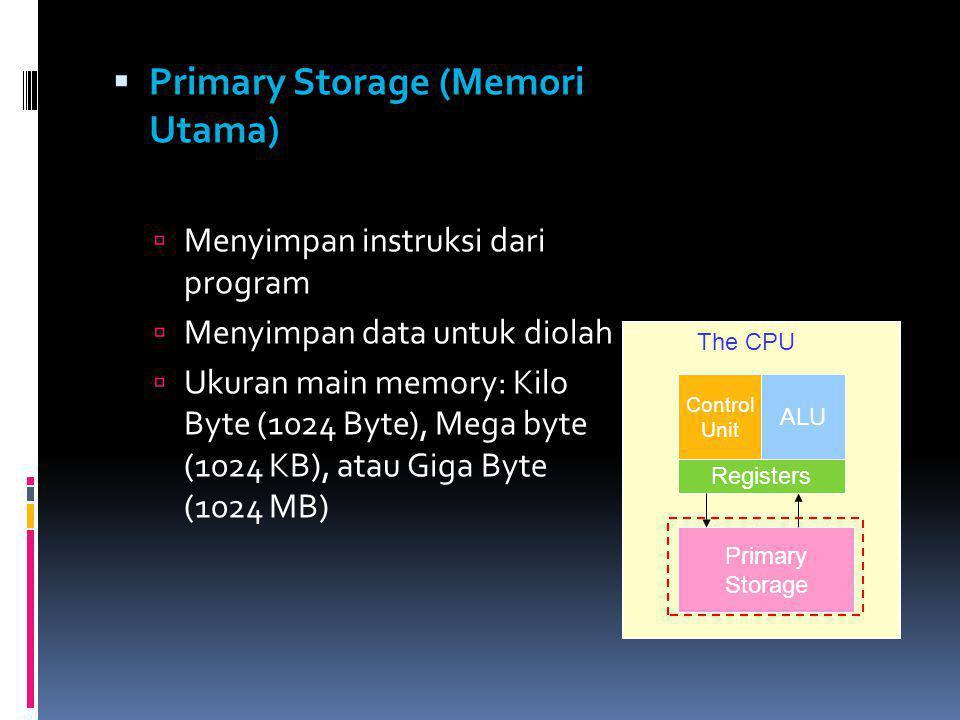 Primary Storage (Memori Utama)