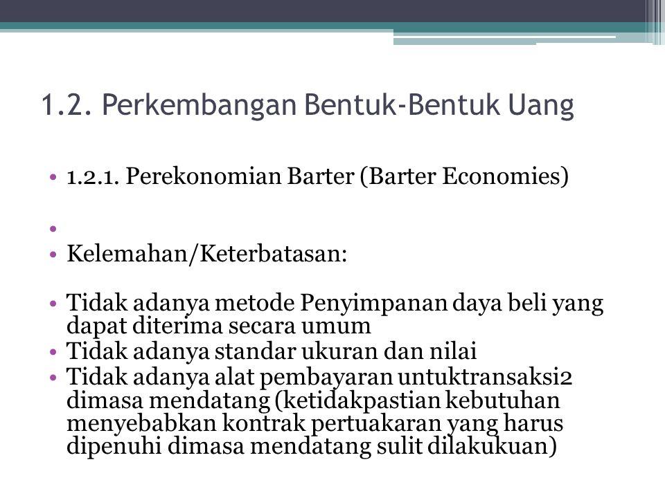 1.2. Perkembangan Bentuk-Bentuk Uang