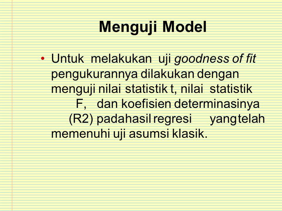 Menguji Model