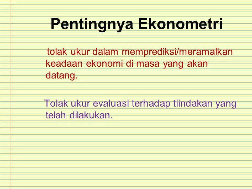 Pentingnya Ekonometri