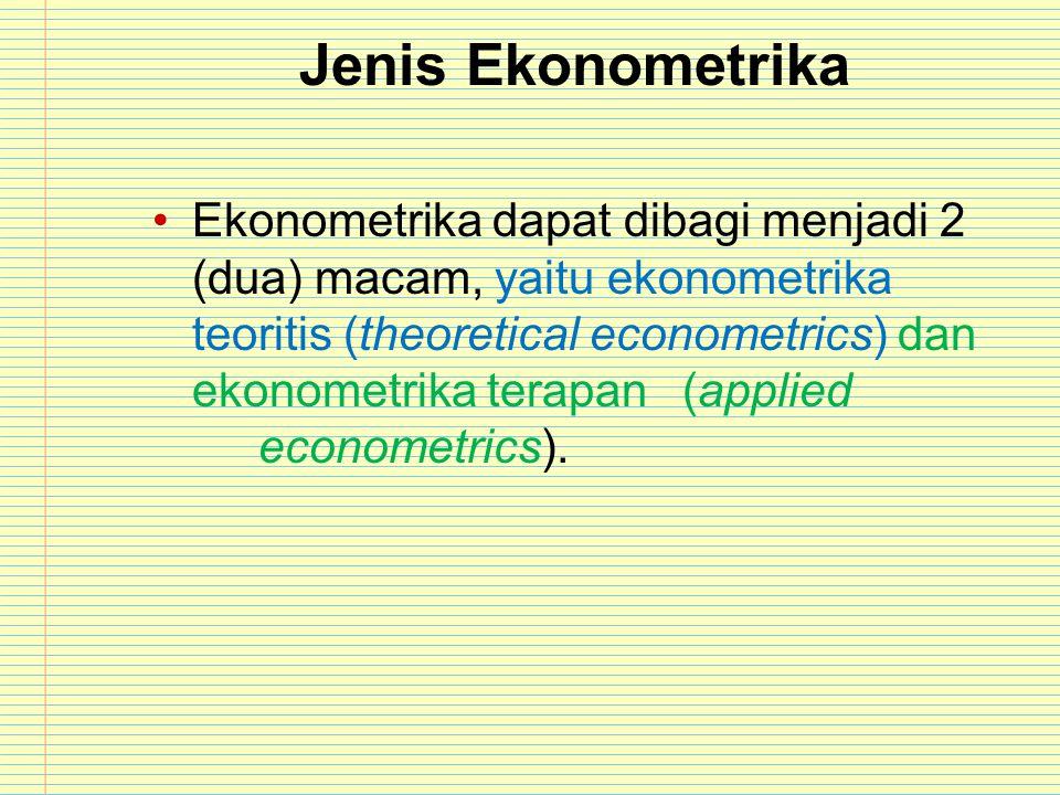 Jenis Ekonometrika
