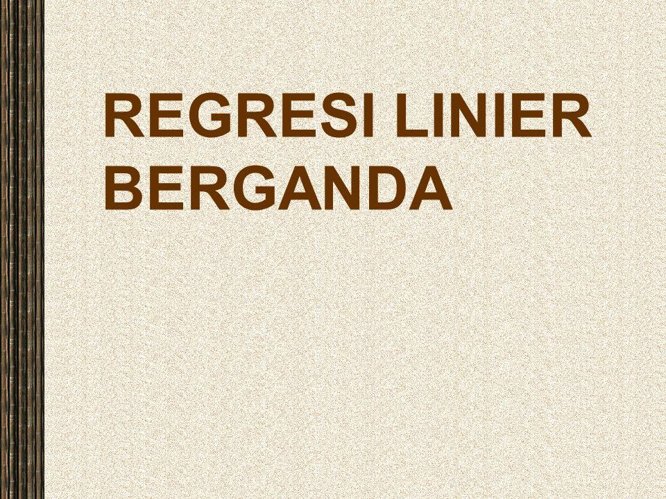 REGRESI LINIER BERGANDA