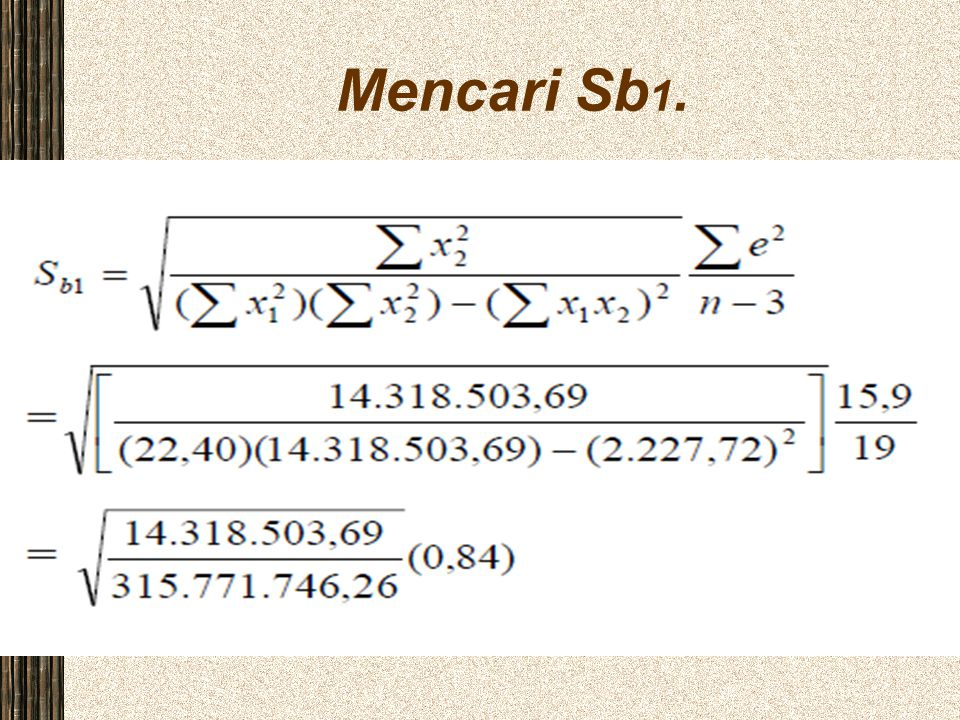Mencari Sb1.