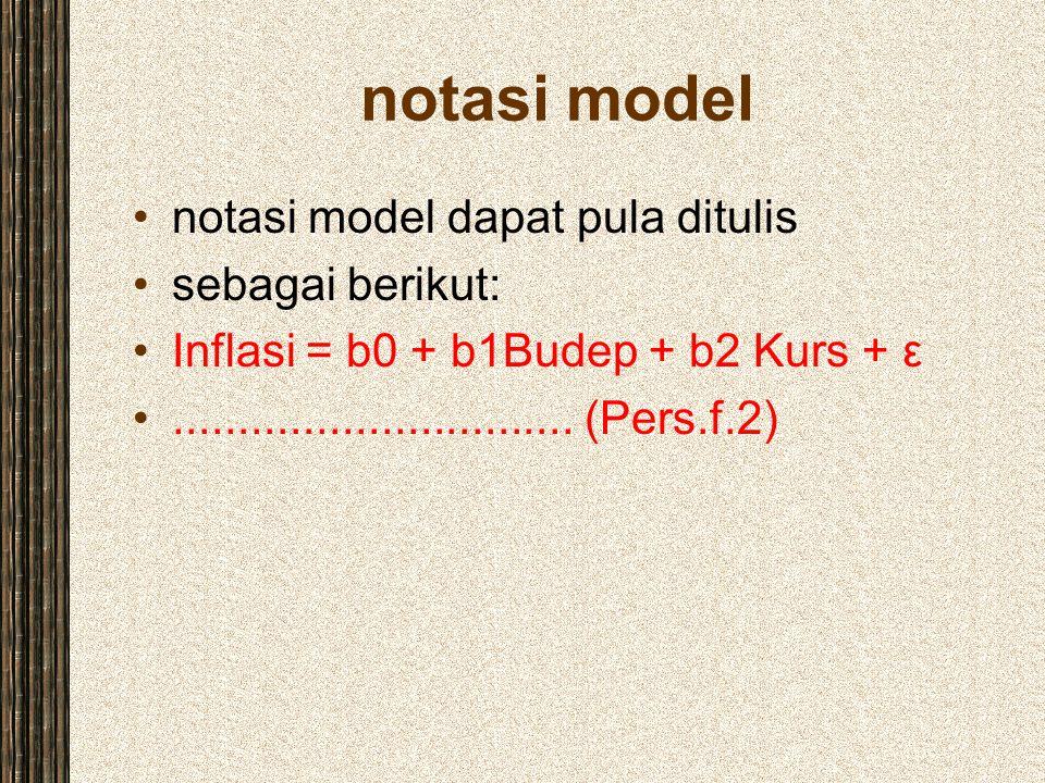 notasi model notasi model dapat pula ditulis sebagai berikut: