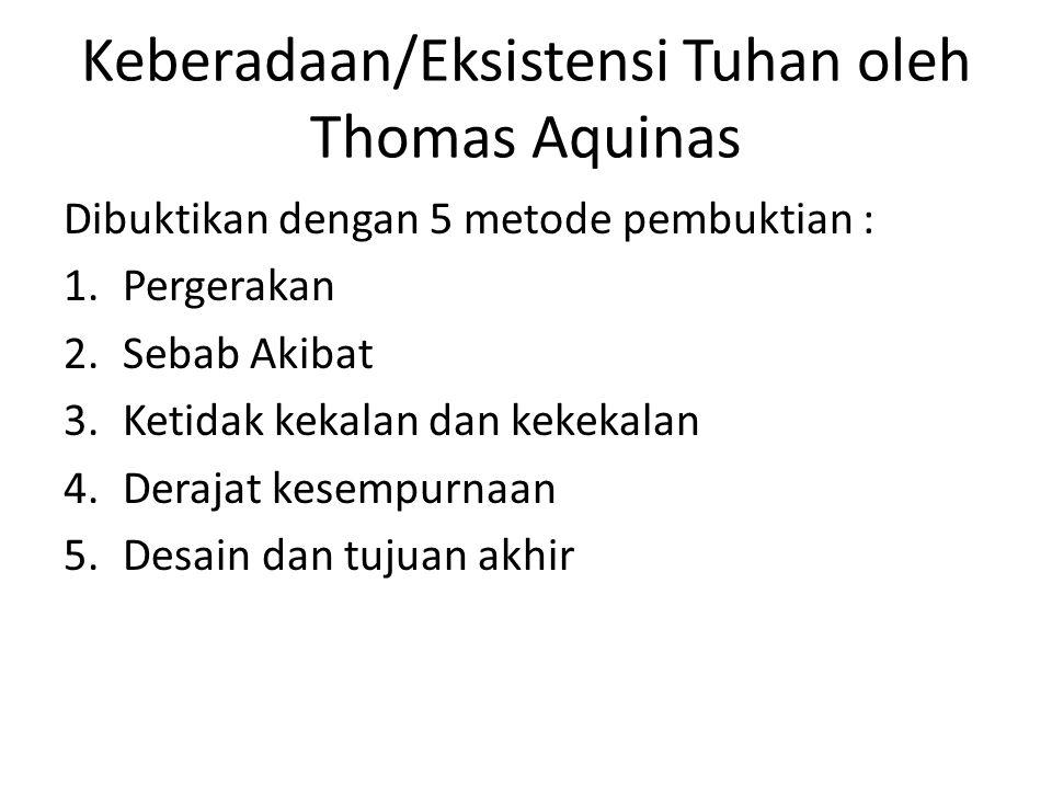 Keberadaan/Eksistensi Tuhan oleh Thomas Aquinas
