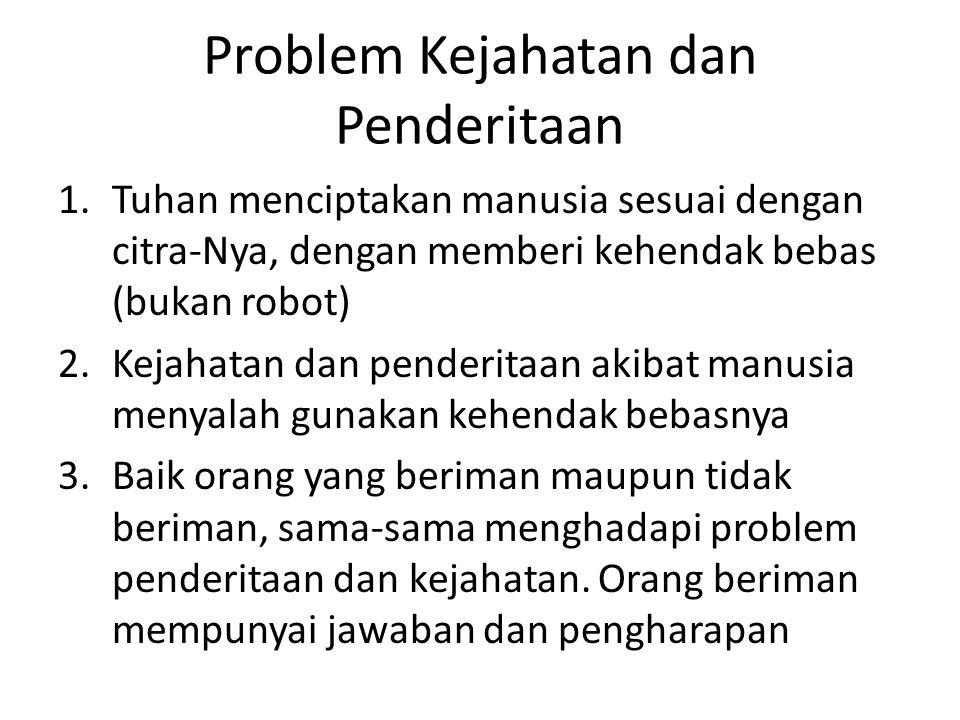 Problem Kejahatan dan Penderitaan