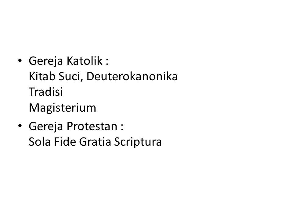 Gereja Katolik : Kitab Suci, Deuterokanonika Tradisi Magisterium