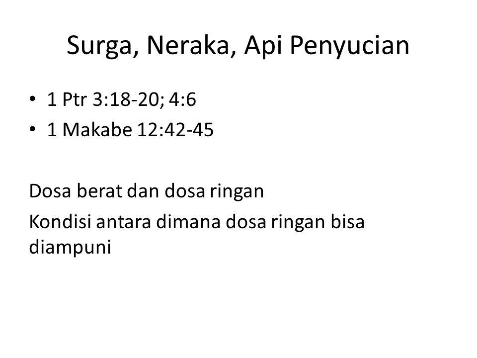 Surga, Neraka, Api Penyucian
