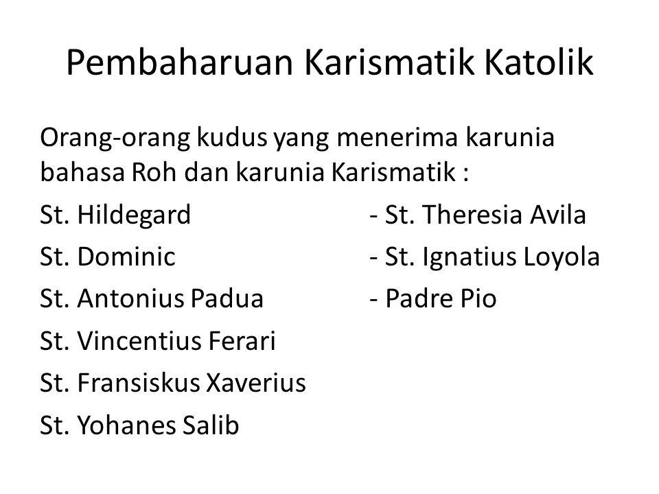 Pembaharuan Karismatik Katolik
