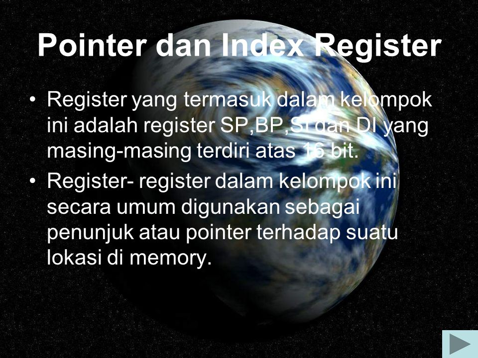 Pointer dan Index Register