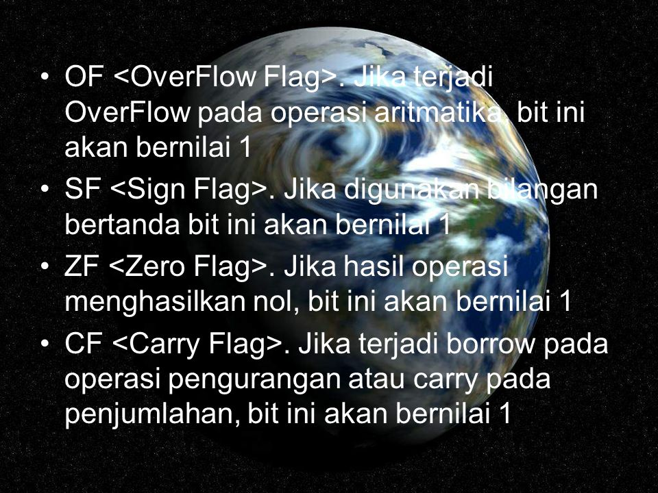 OF <OverFlow Flag>