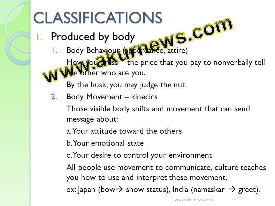 www.akurnews.com CLASSIFICATIONS Produced by body