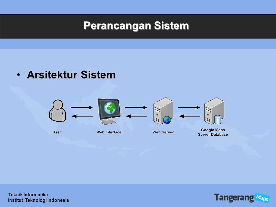 Perancangan Sistem Arsitektur Sistem Teknik Informatika