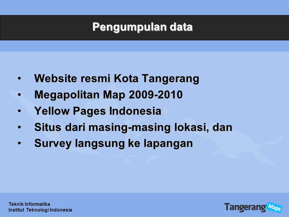 Website resmi Kota Tangerang Megapolitan Map 2009-2010
