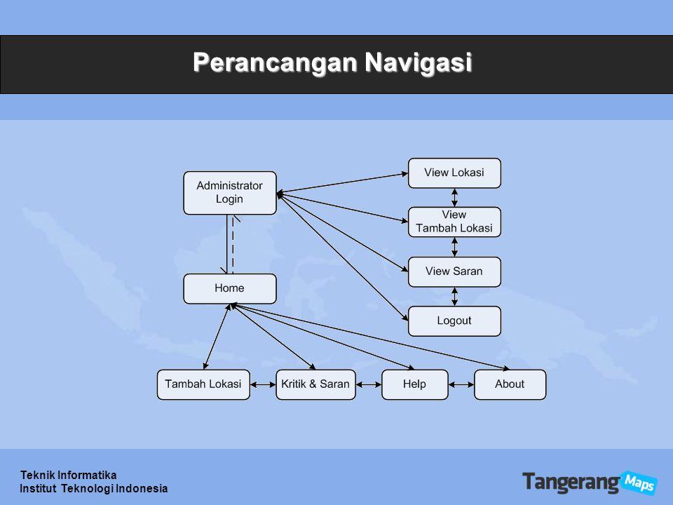 Perancangan Navigasi Teknik Informatika Institut Teknologi Indonesia