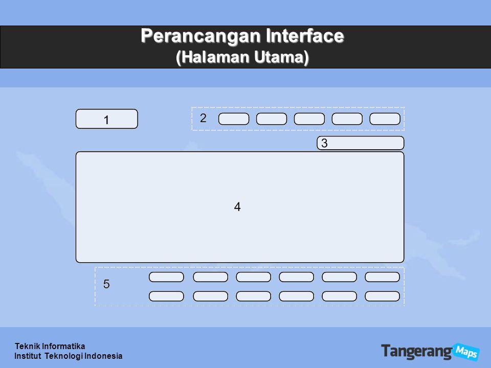 Perancangan Interface (Halaman Utama)