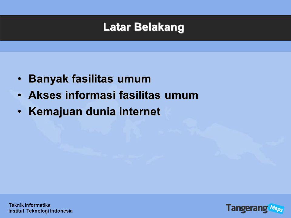 Akses informasi fasilitas umum Kemajuan dunia internet