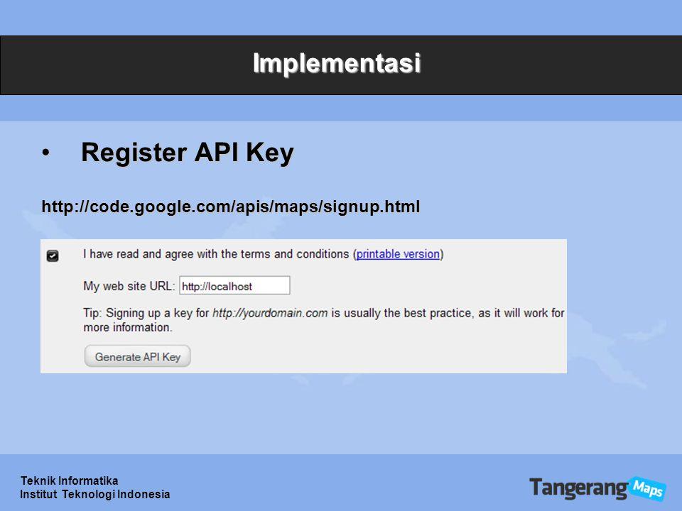 Implementasi Register API Key