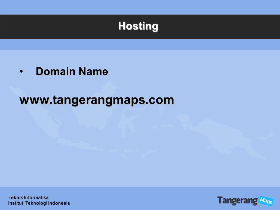 www.tangerangmaps.com Hosting Domain Name Teknik Informatika