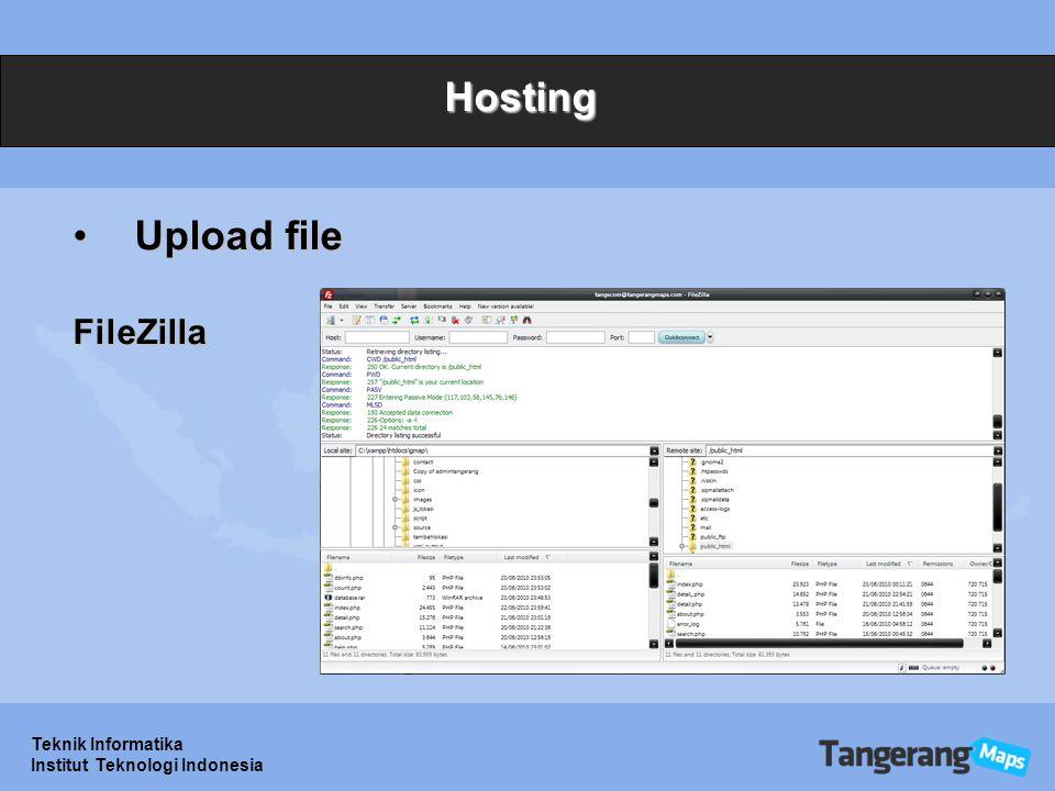 Hosting Upload file FileZilla Teknik Informatika