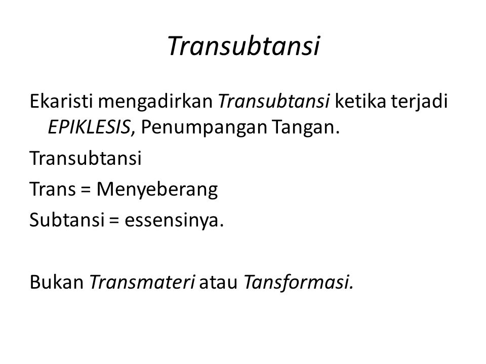 Transubtansi