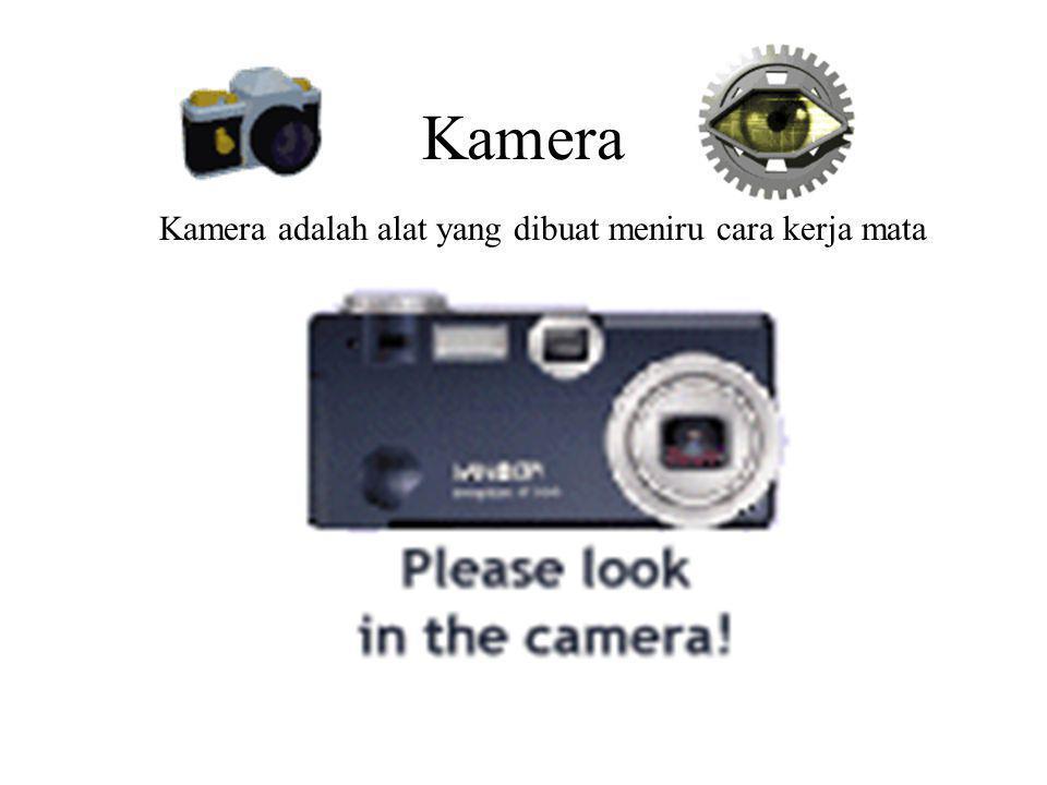 Kamera Kamera adalah alat yang dibuat meniru cara kerja mata