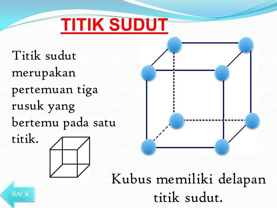 Kubus memiliki delapan titik sudut.