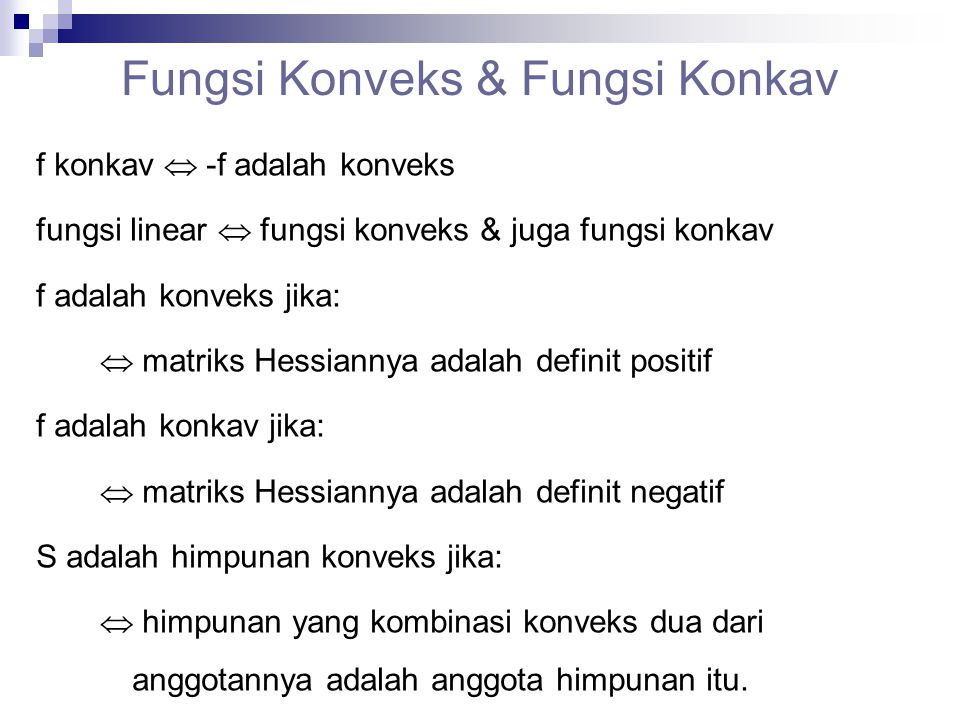 Fungsi Konveks & Fungsi Konkav