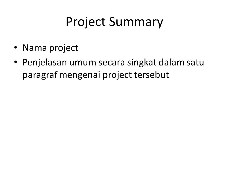 Project Summary Nama project