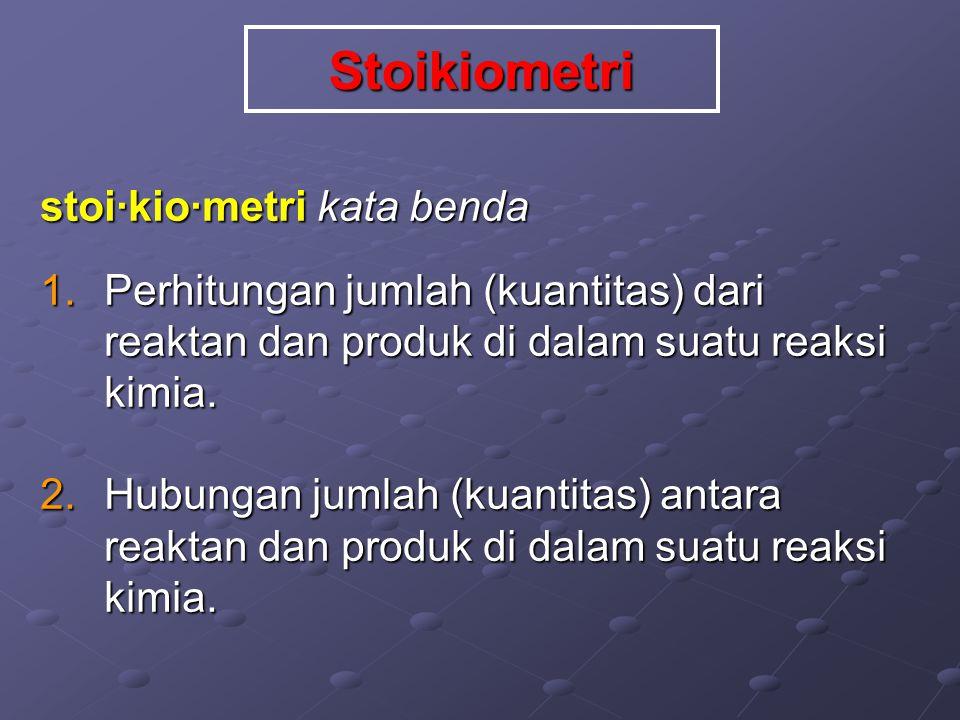 Stoikiometri stoi·kio·metri kata benda