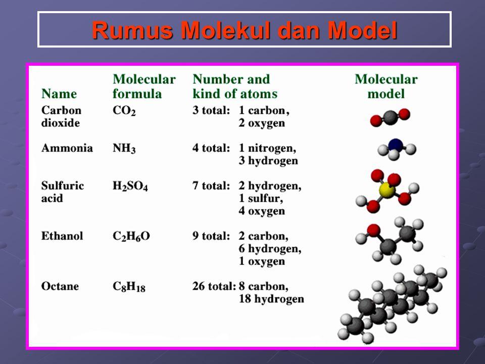 Rumus Molekul dan Model