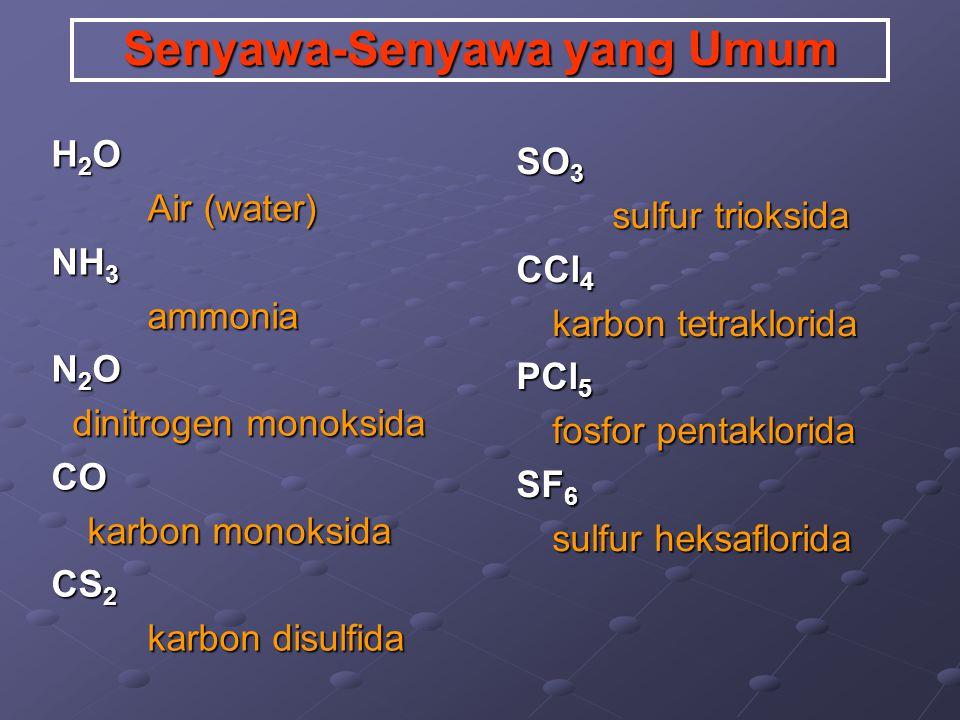Senyawa-Senyawa yang Umum