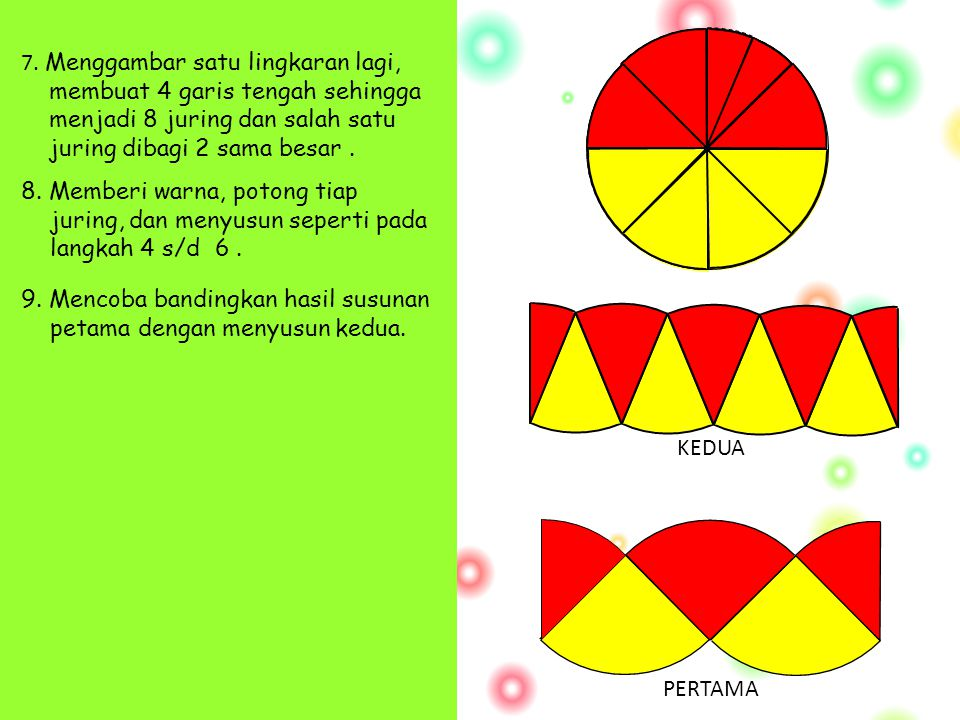 9. Mencoba bandingkan hasil susunan petama dengan menyusun kedua.