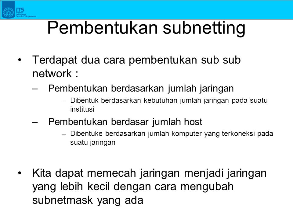 Pembentukan subnetting