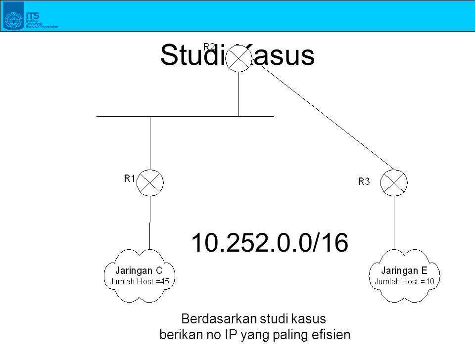Studi Kasus 10.252.0.0/16 Berdasarkan studi kasus