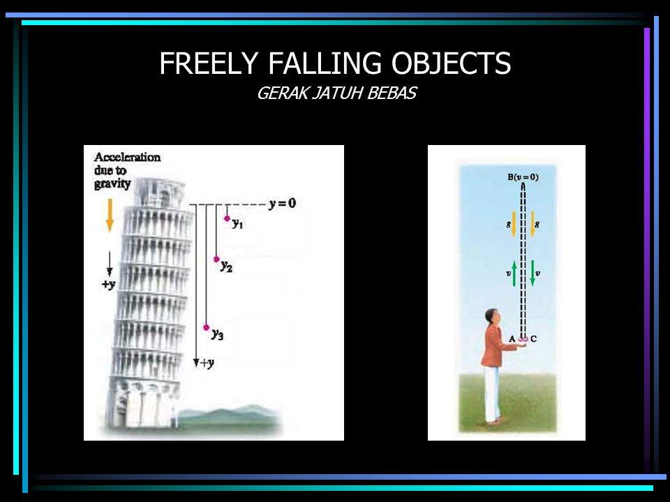 FREELY FALLING OBJECTS GERAK JATUH BEBAS