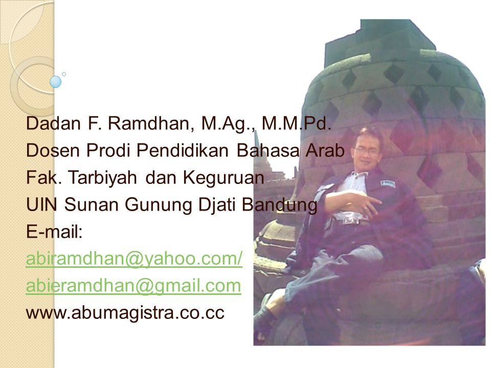 Dadan F. Ramdhan, M.Ag., M.M.Pd.
