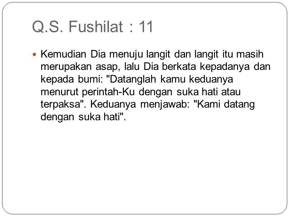 Q.S. Fushilat : 11