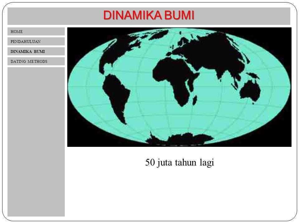 DINAMIKA BUMI 50 juta tahun lagi HOME PENDAHULUAN DINAMIKA BUMI