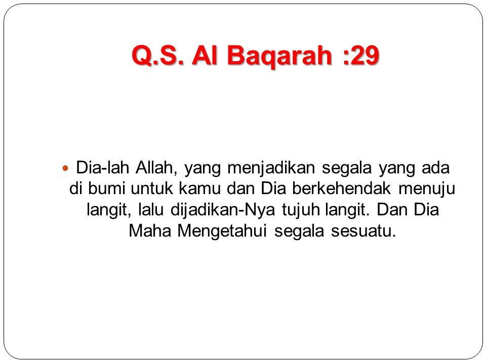 Q.S. Al Baqarah :29
