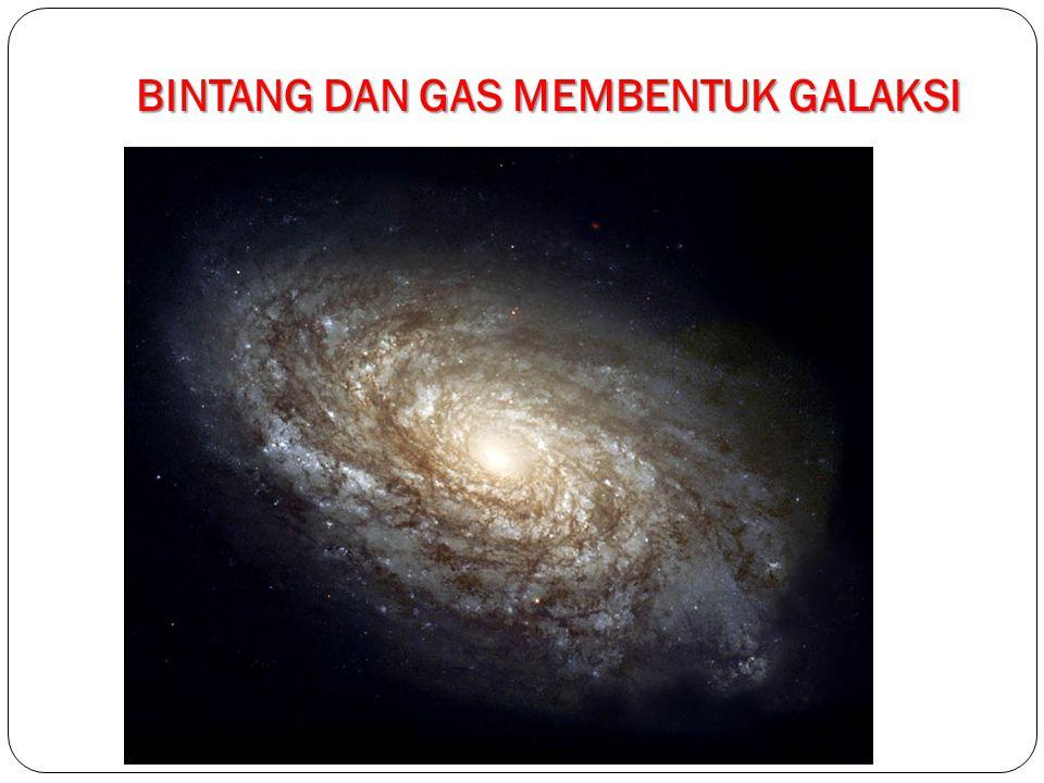 BINTANG DAN GAS MEMBENTUK GALAKSI