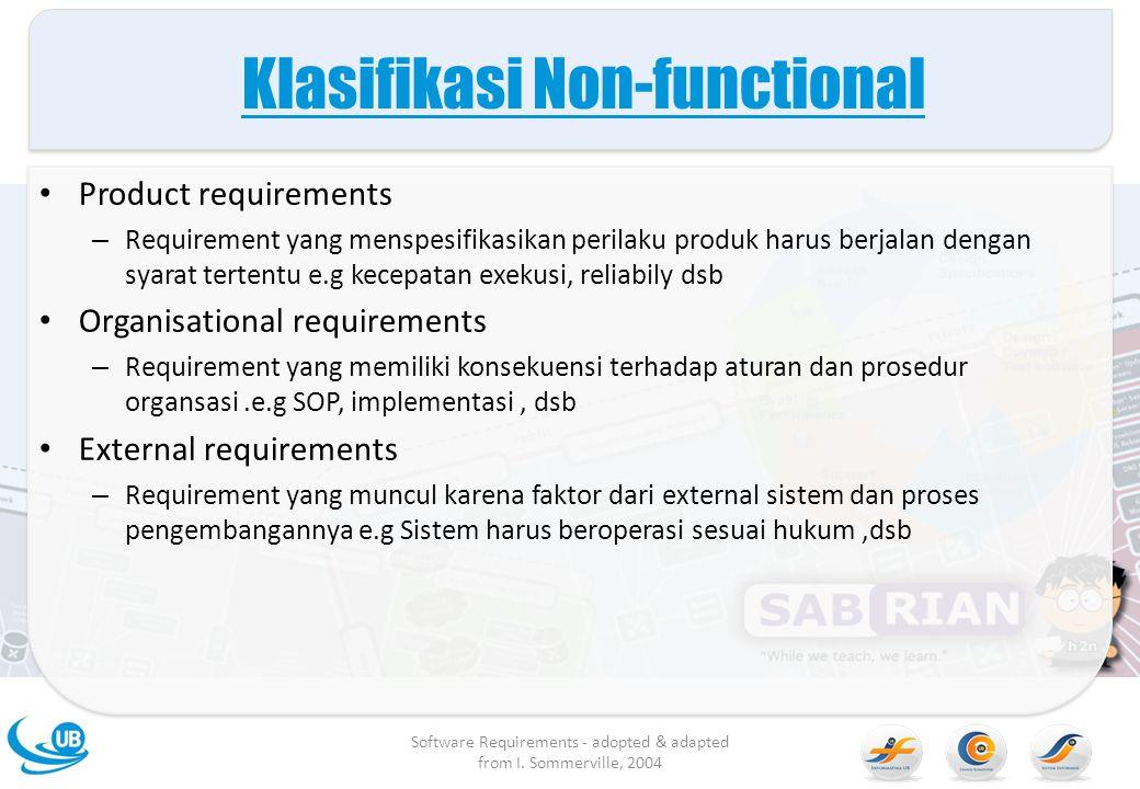 Klasifikasi Non-functional